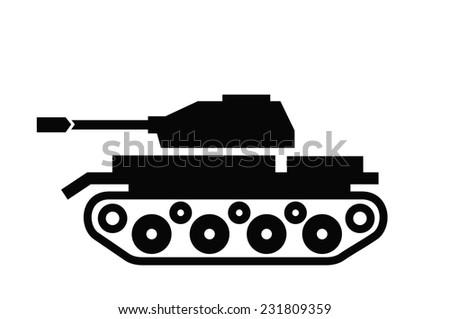 vector black tank icon on white