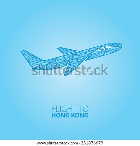 plane illustration with names