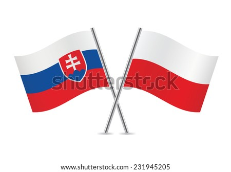 slovakia and poland flags