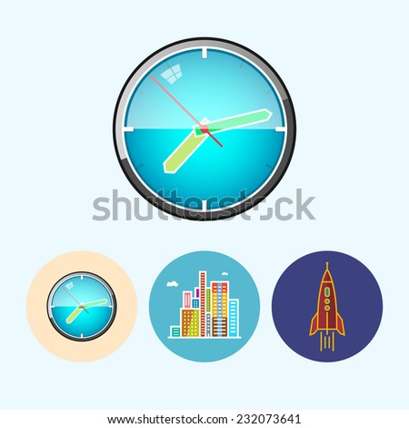 wall clock set with 3 round