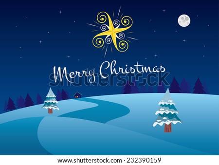 winter christmas night