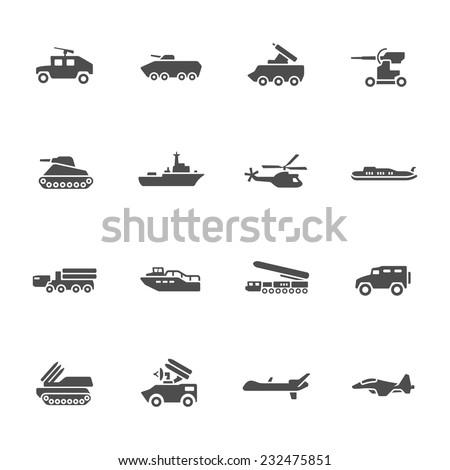 military icon set