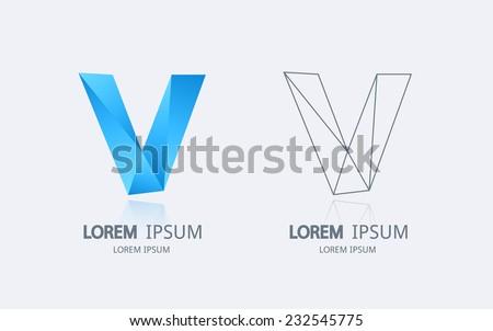 letter v logo alphabet