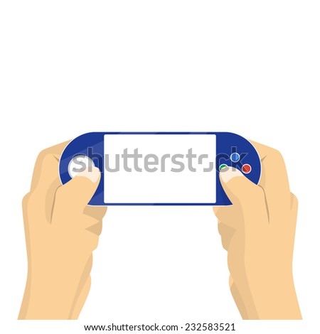 portable game pad in hands
