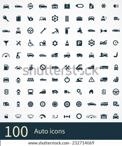 auto icon on white background