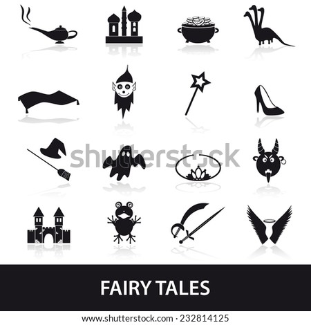 black simple fairy tales theme