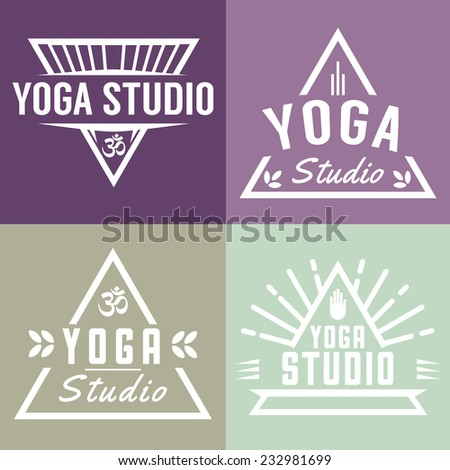 vector yoga studio triangle