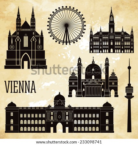 vienna vector illustration