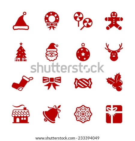 christmas icon set 6  vector