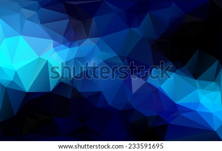 blue black light polygonal