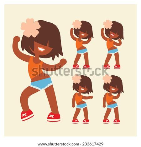 funny cartoon style  sporty
