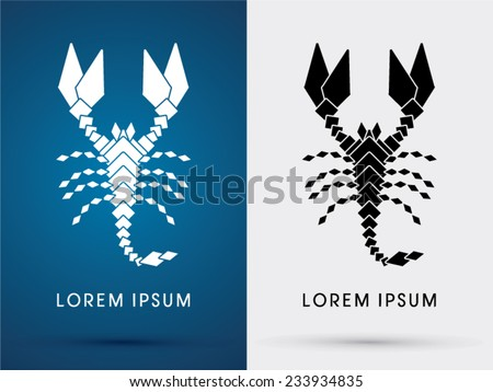 scorpion abstract  icon  symbol
