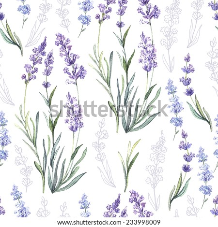 watercolor vector pattern with