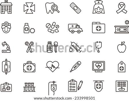 medical   hospital icon set