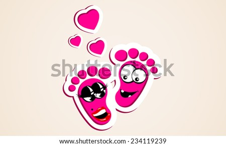 baby love footprints