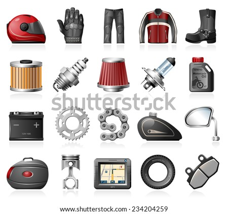 motorcycle parts and