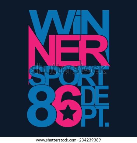 sport winner typography  t