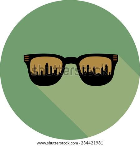 city in glasses