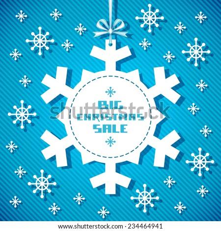 vector snowflake tag