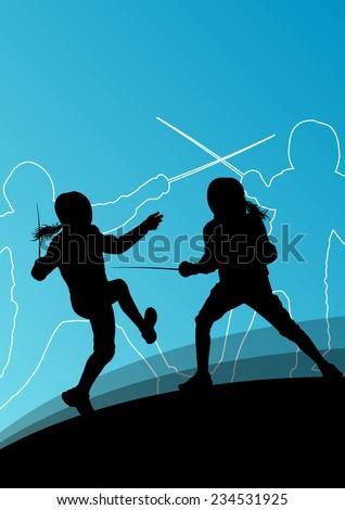 sword fighters active young men