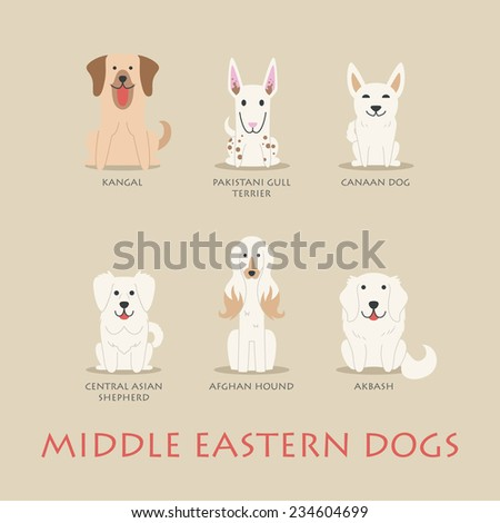 set of middle eastern dogs