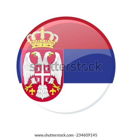 button flag of serbia