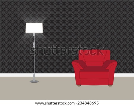 living room interior   vector