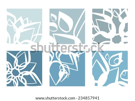 vector icy blossom logos