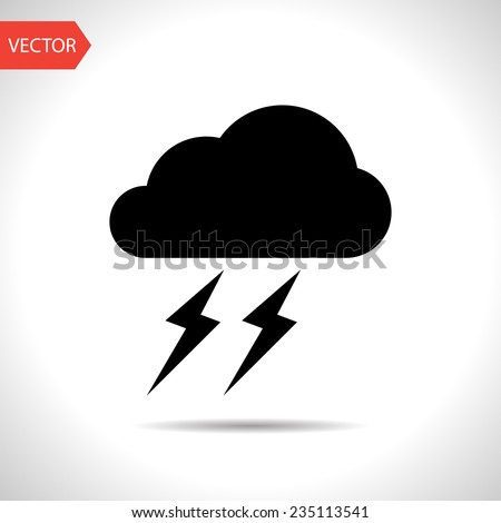 weather icon of storm eps10