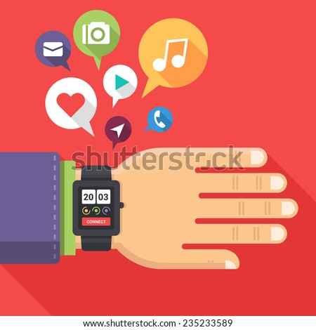 concept of smart watch on