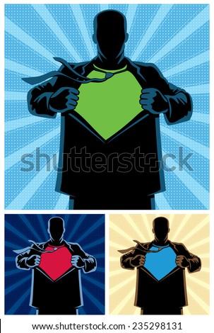 silhouette of superhero under