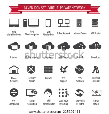vpn icon set   24 icon set