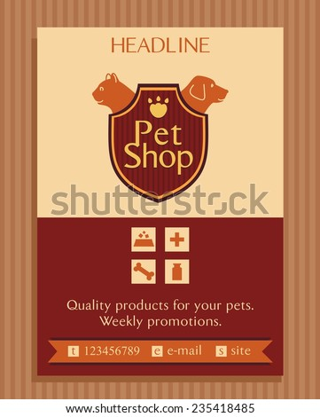 vector logo for a pet store in