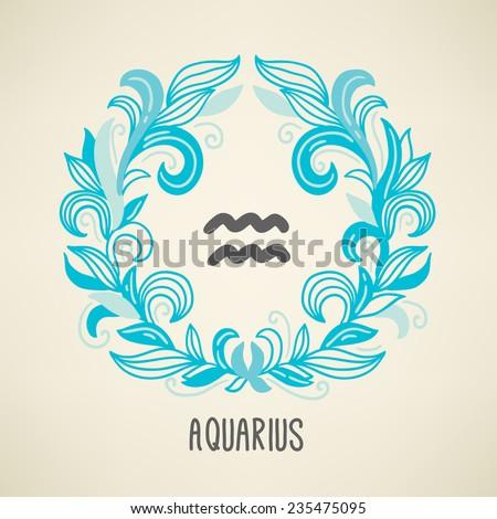 zodiac sign aquarius  the water