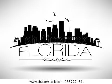 florida skyline with typography