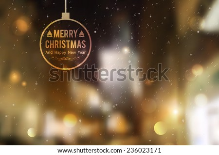 winter night street  vector