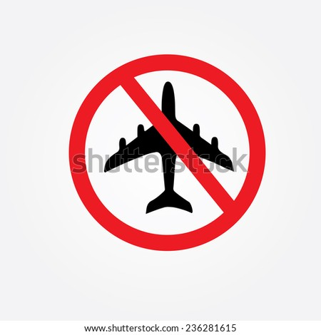 no flying on white background