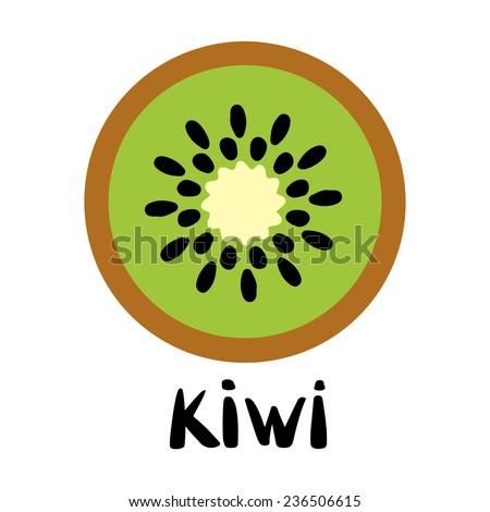 kiwi fruit slice closeup icon