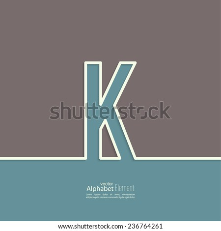 the letter k of the alphabet