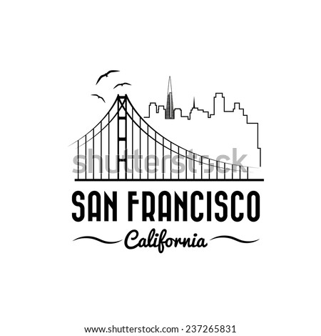 skyline of san francisco vector