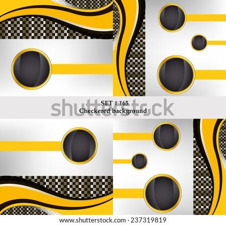 set of checkered vector flag