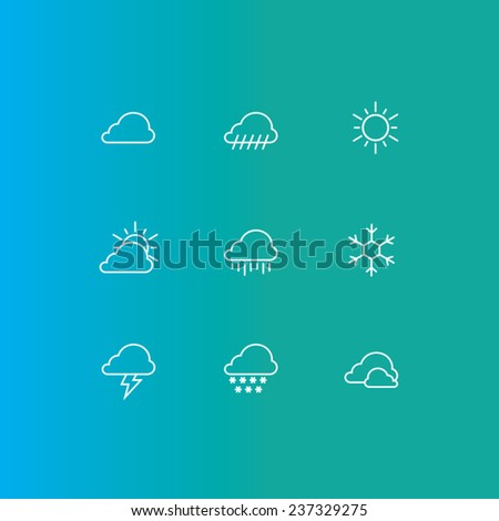 flat design vector weather