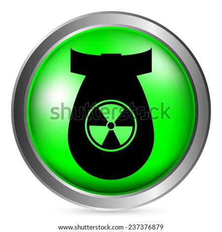 bomb button on white background