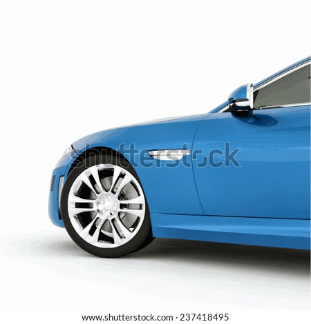 very fast sport blue car