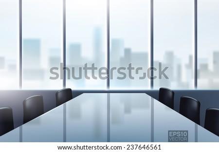 conference desk in modern