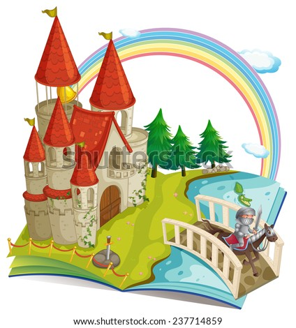 illustration of a pop up book