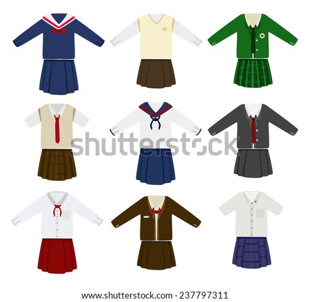 school uniform vector