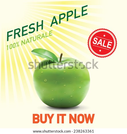 colorful vector apple label