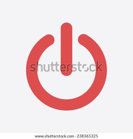 power sign icon flat design