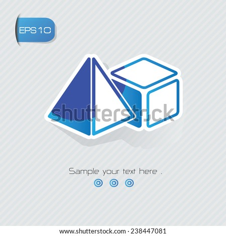 geometry symbol sticker design